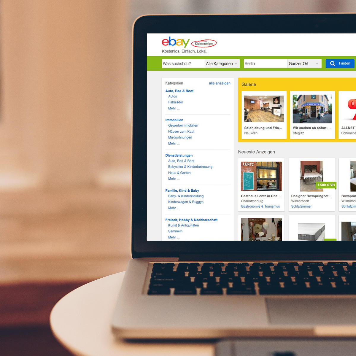 ebay kleinanzeigen gewerblich nutzen 9 tipps der homepage macher. Black Bedroom Furniture Sets. Home Design Ideas